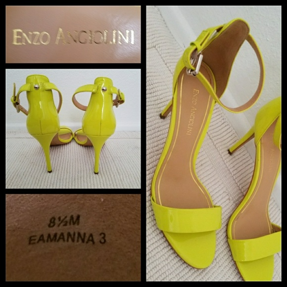 Enzo Angiolini Shoes - Enzo Angiolini Lime Green Manna Heels 8.5 a9cb86f18